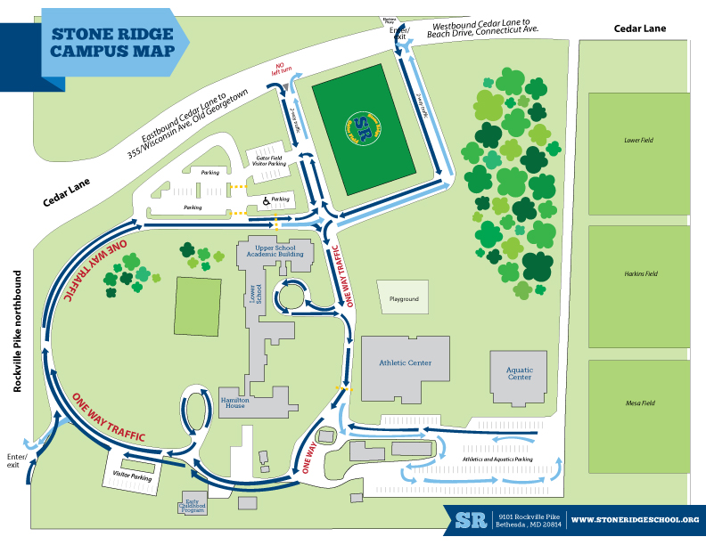 Georgetown Law Campus Map.Directions Transportation Stone Ridge School Of The Sacred Heart