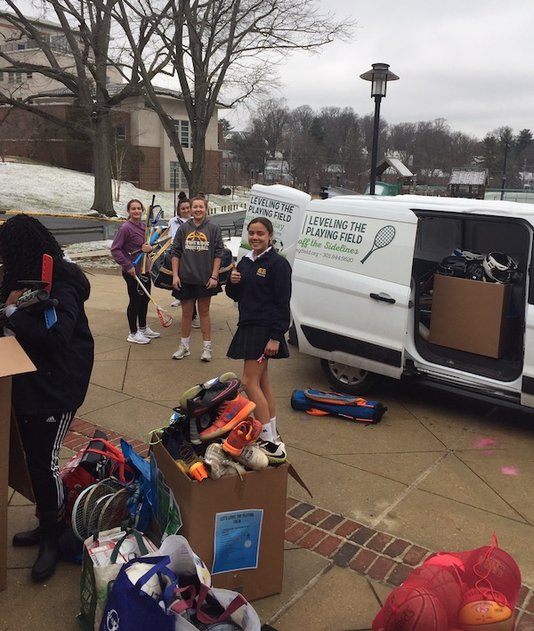 LPF filling the van - volunteer