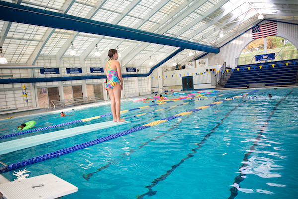 ... Twenty Five Yard, Heated, Competition Size Swimming Pool. The Indoor  Facility Includes A Retractable Roof, Two One Meter Duraflex Diving Boards,  ...